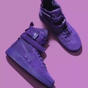 Nike Air Force 1 Sneaker Boots Mens Court Purple